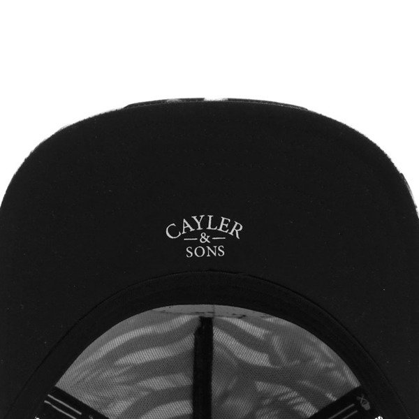 Cayler & Sons White Label snapback czapka 99 FCKN Problems Trucker Cap black / white WL-CAY-SU16-12