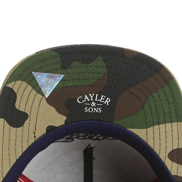 Cayler & Sons White Label snapback czapka BKNY Cap navy / woodland / red(WL-CAY-SS16-01-02)