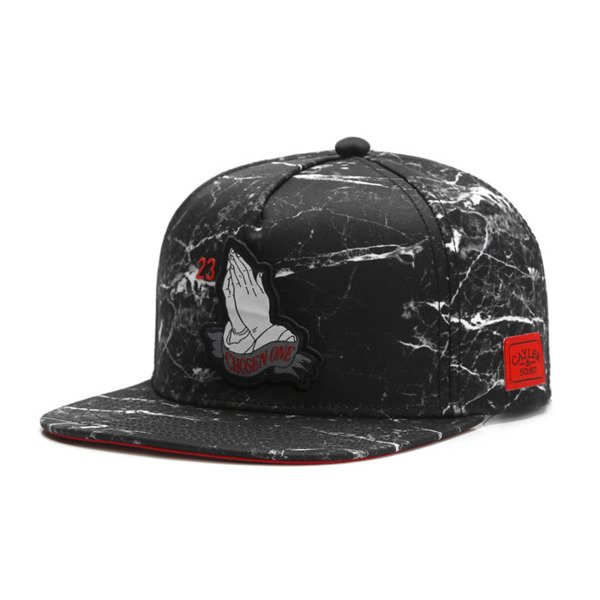 Cayler & Sons White Label snapback czapka Chosen One Cap black marble / red WL-CAY-SU16-04