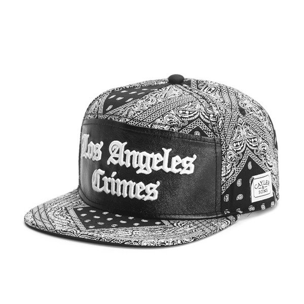 Cayler & Sons White Label snapback czapka Crimes Cap black paisley / black (WL-CAY-SS16-11-02)