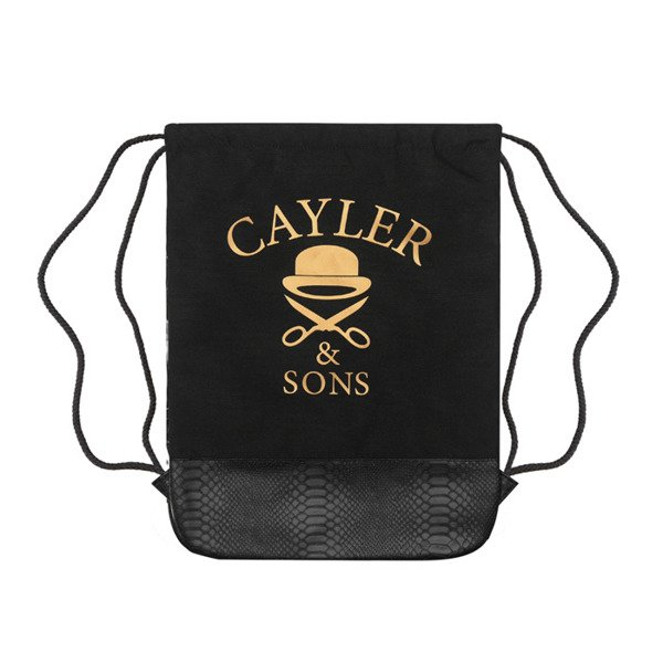 Cayler & Sons White Label worek Saint Gymbag black / white / gold (WL-CAY-SS16-GB-05)