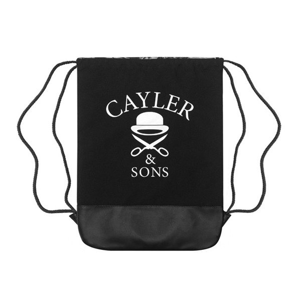 Cayler & Sons White Label worek Savior Gymbag black / white (WL-CAY-SS16-GB-11)