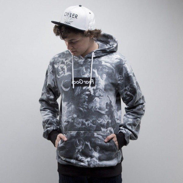 Cayler & Sons bluza Fear God Hoody black / white (CAY-SS15-AP-08-01)