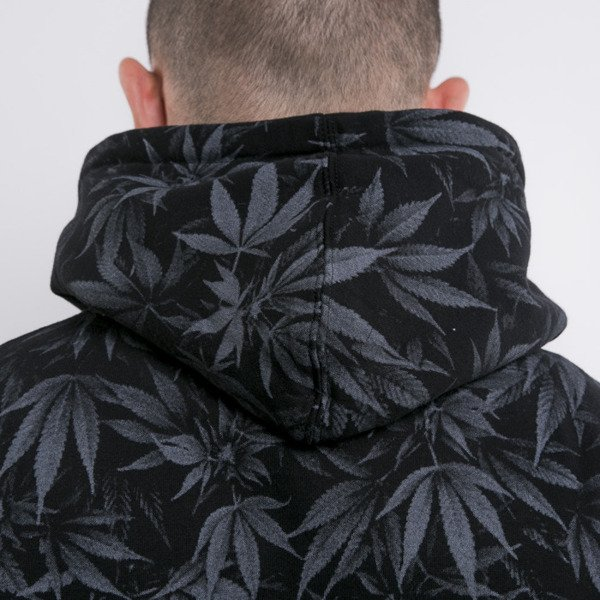 Cayler & Sons bluza Legalize It Hoody black leaves / gold (GL-CAY-AW15-AP-10)