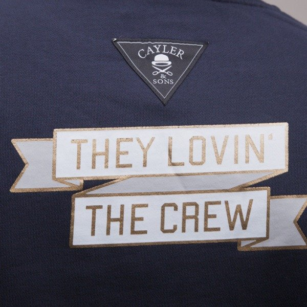Cayler & Sons bluza Lovin The Crew crewneck black / gold / white