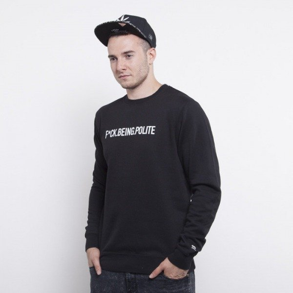 Cayler & Sons bluza Never Polite crewneck black / white