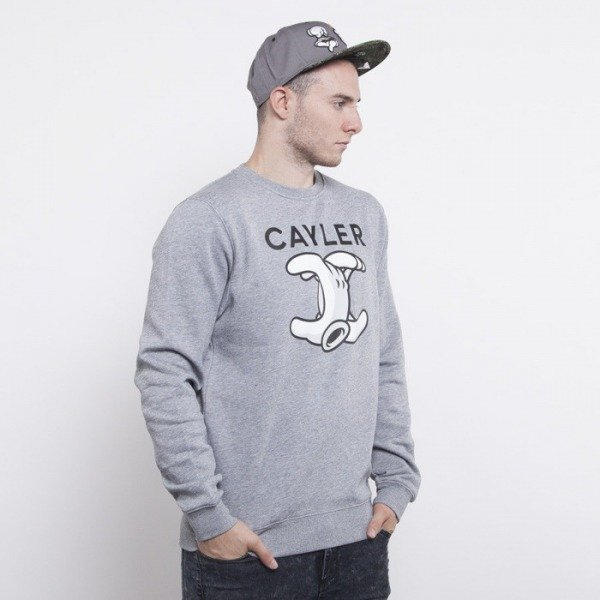 Cayler & Sons bluza No.1 crewneck grey heather / white / black