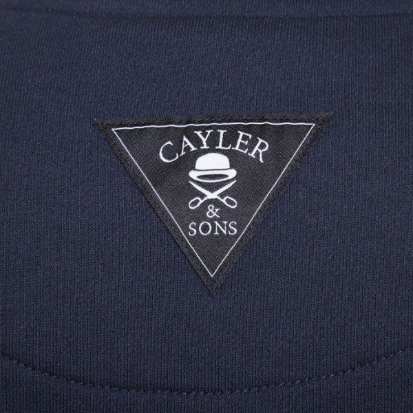 Cayler & Sons bluza Roll Light Smoke crewneck deep navy / white / blue leaves
