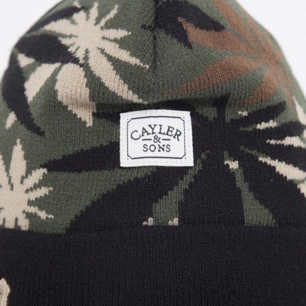 Cayler & Sons czapka A-Dam weed camo / black / gold