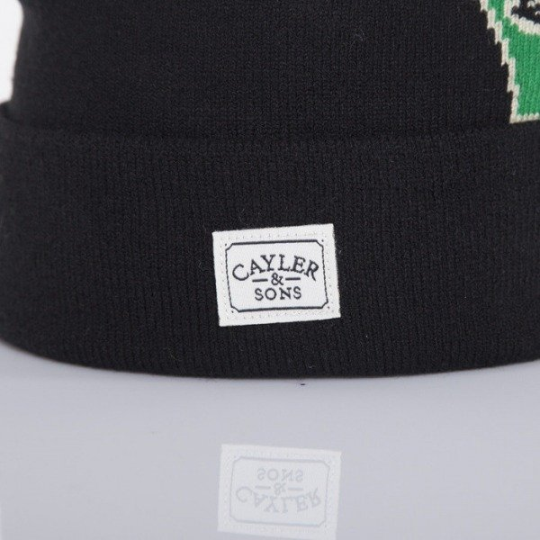 Cayler & Sons czapka Rainmaker Pom Pom black / green / white