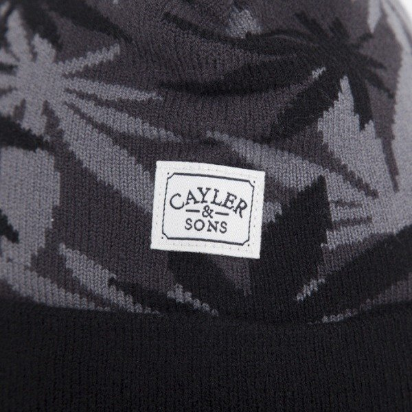 Cayler & Sons czapka #faded black weed camo / black / white