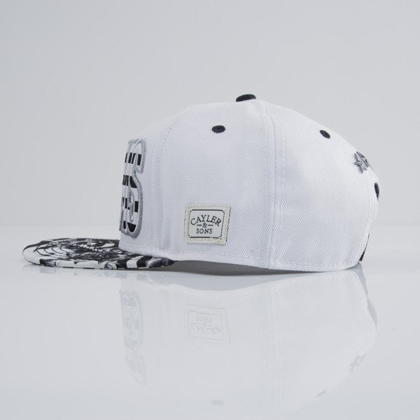 Cayler & Sons czapka snapback 99 FCKN Problems white / black ()CAY-SU15-08-01