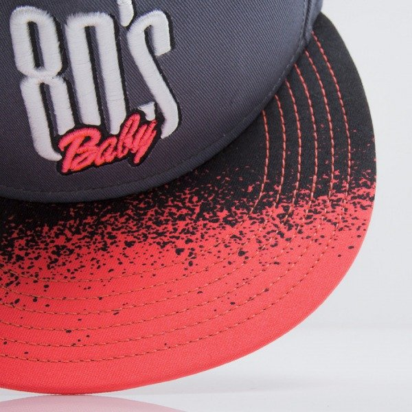 Cayler & Sons czapka snapback Eighties Baby grey / neon pink (CAY-SS15-10-02)
