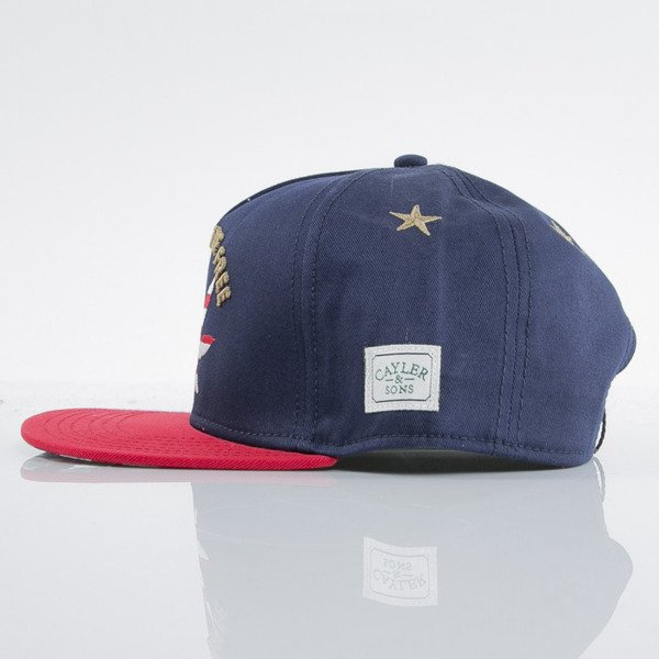 Cayler & Sons czapka snapback Land Of The Free navy / red / gold (GL-CAY-AW15-14-OS)