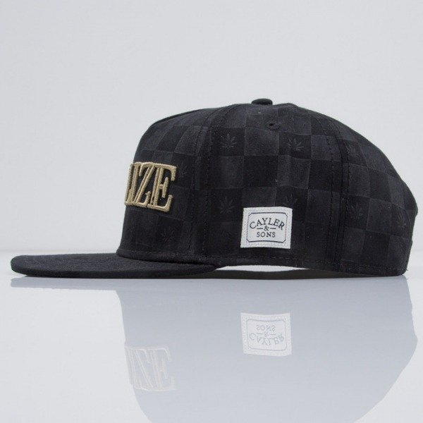 Cayler & Sons czapka snapback Legalize It black suede / gold (CAY-SS15-15-01)
