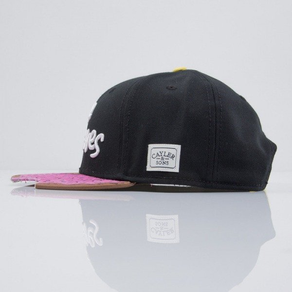 Cayler & Sons czapka snapback Munchies black / pink donut / white (CAY-HD-15-07)