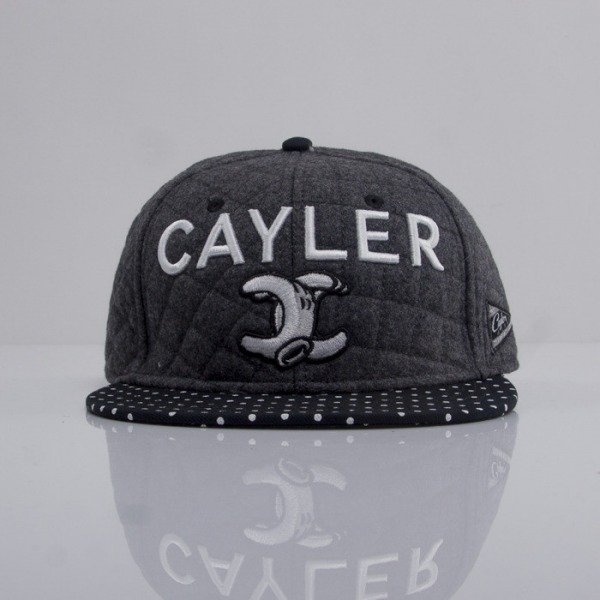 Cayler & Sons czapka snapback No.1 Throwback grey wool / black / white