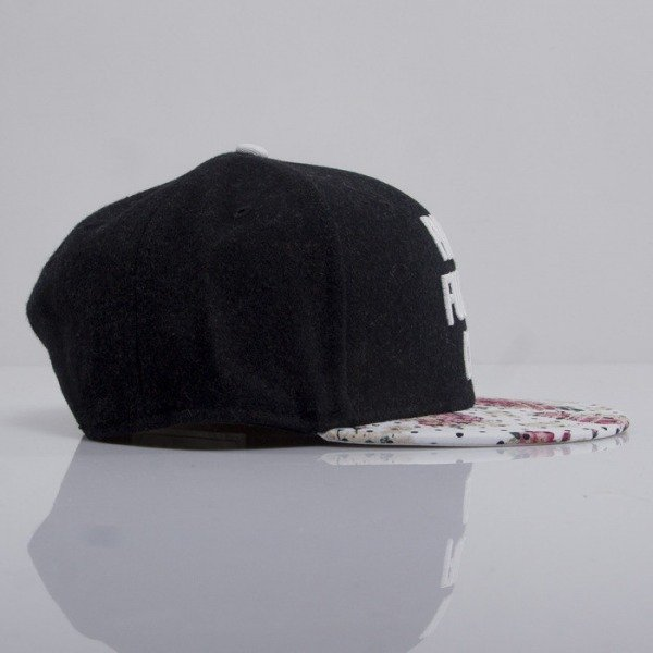 Cayler & Sons czapka snapback Paris Throwback black wool / floral leather / white