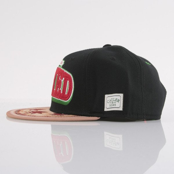 Cayler & Sons czapka snapback Sorry I'm Baked black / red / pizza (GL-CAY-AW15-07-OS)