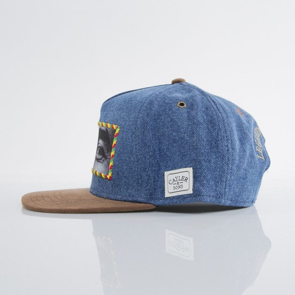 Cayler & Sons czapka snapback The Prophet blue denim / brown suede(CAY-SU15-19)