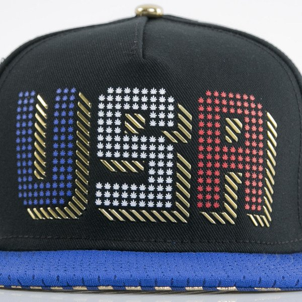 Cayler & Sons czapka snapback United We Stand black / royal blue / gold (GL-CAY-AW15-16-OS)