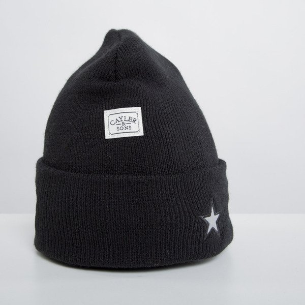 Cayler & Sons czapka zimowa Problems Oldschool beanie black / reflective WL-CAY-HD14-BN-03