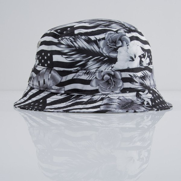 Cayler & Sons kapelusz bucket hat Flagged black / white (CAY-SU15-11)