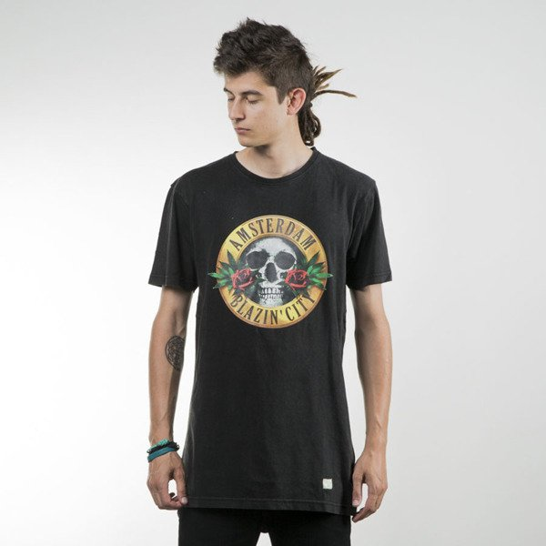 Cayler & Sons koszulka t-shirt Budz N Roses Long Tee washed black / mc GL-CAY-SU16-AP-03
