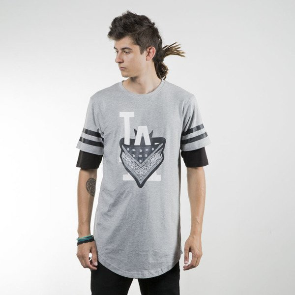 Cayler & Sons koszulka t-shirt Ivan Antonov Scallop Tee grey heather black / white WL-CAY-SU16-AP-11