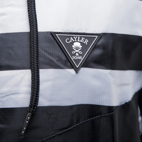 Cayler & Sons kurtka Budz n Stripes Windbreaker black / white (BL-CAY-SS15-AP-02-01)