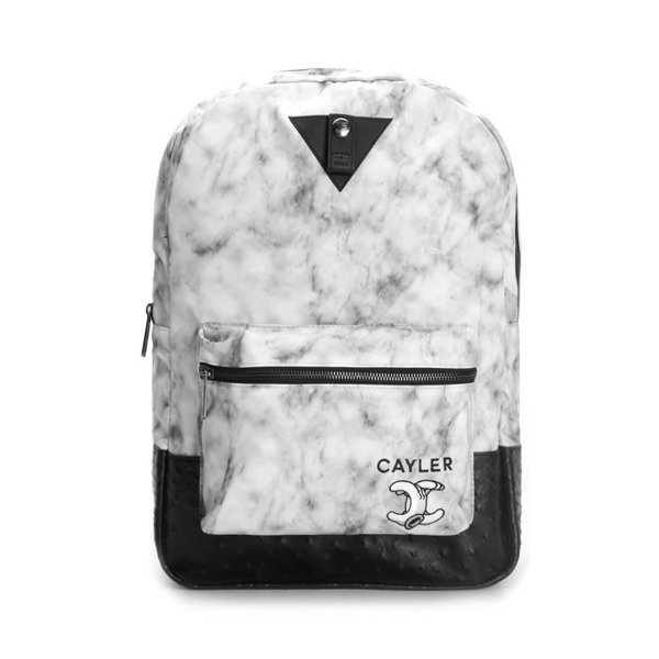Cayler & Sons plecak No.1 Uptown Backpack white marble / black marble WL-CAY-AW16-BP-04