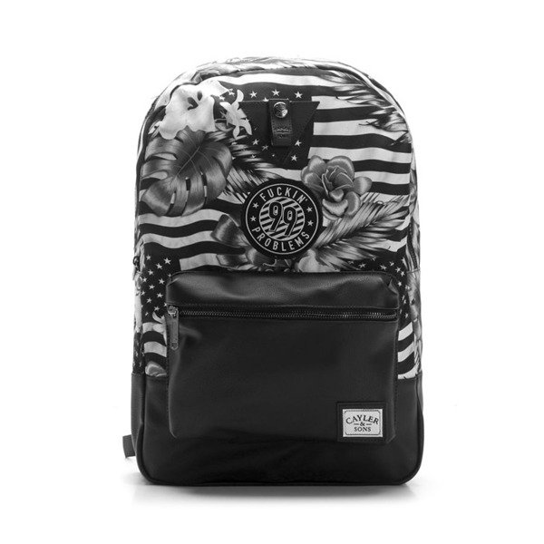 Cayler & Sons plecak Problems Uptown Backpack black / white WL-CAY-SU16-BP-01