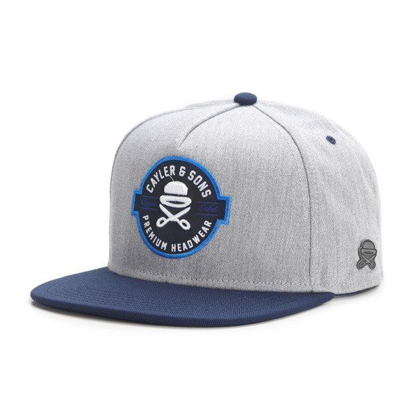 Cayler & Sons snapback czapka Copper Label Cap grey - heather / navy / white CL-CAY-AW16-05