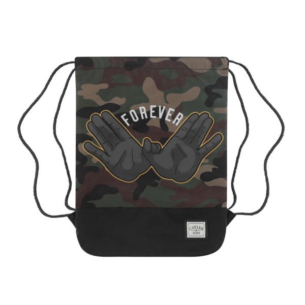Cayler & Sons worek Forever Gymbag black / woodland / yellow WL-CAY-AW16-GB-08