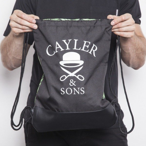 Cayler & Sons worek na plecy Kush green leaves / black / black