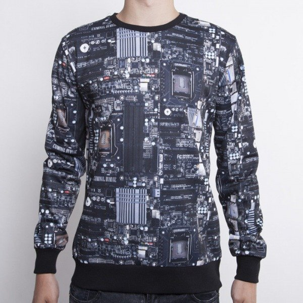 Criminal Damage bluza crewneck Circuit multicolor