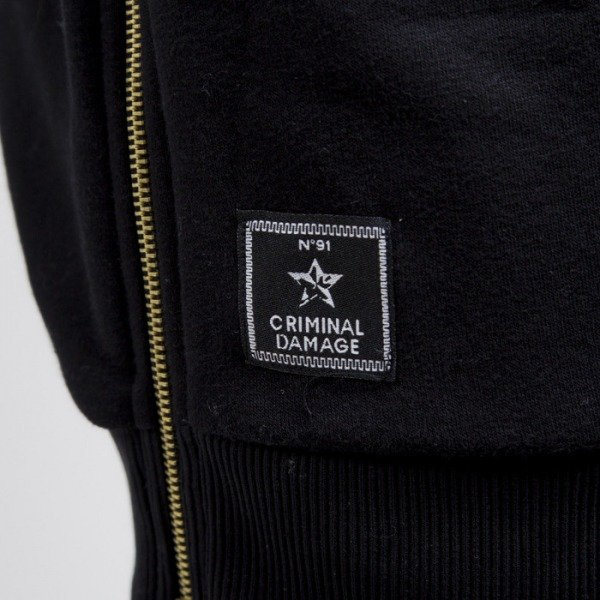 Criminal Damage bluza crewneck Harlem Long black