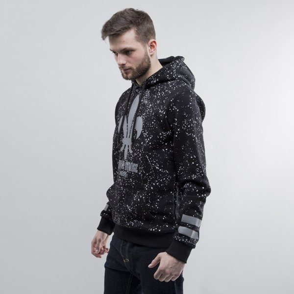 Criminal Damage bluza hoody Splatter Reflective black
