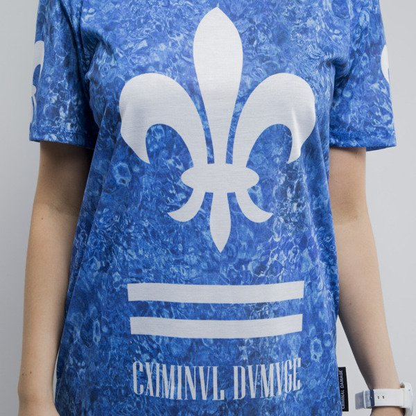 Criminal Damage koszulka Aqua blue / white WMNS