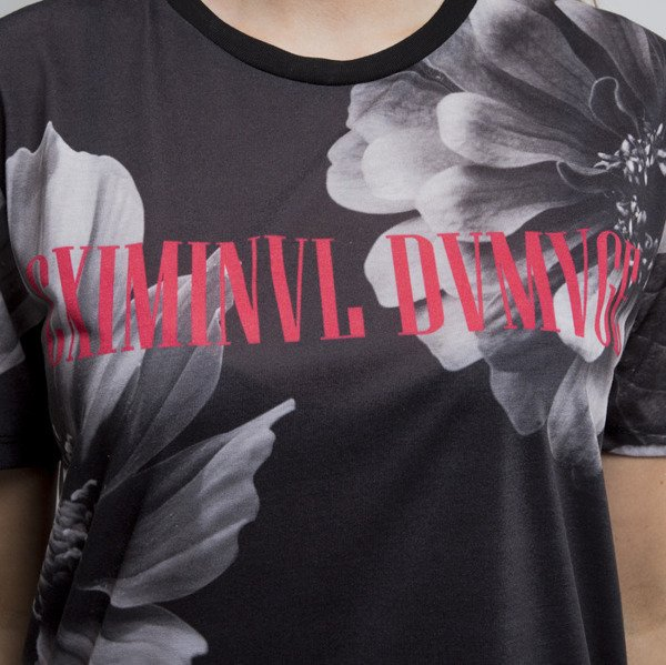 Criminal Damage koszulka Flower black / multi WMNS