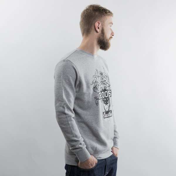 Crooks & Castles bluza crewneck Brigand heather grey