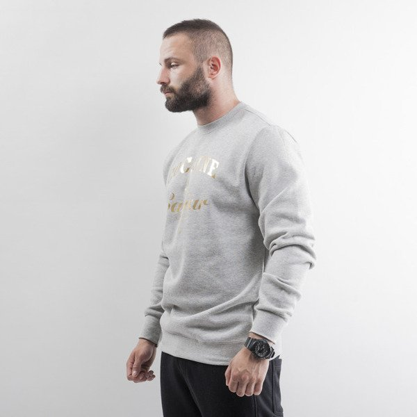 Crooks & Castles bluza crewneck Cocaine & Caviar Foil heather grey / gold