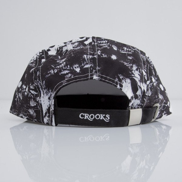 Crooks & Castles czapka 5Panel Medusa Rorschach black / white