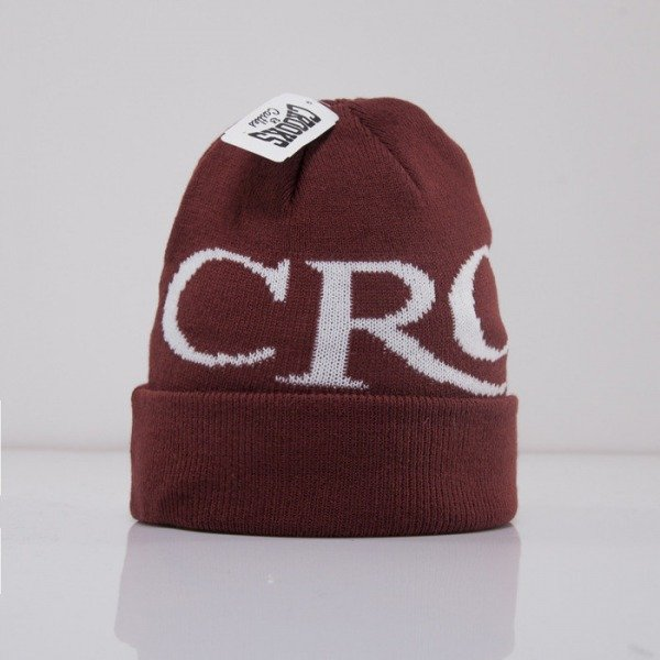 Crooks and Castle czapka zimowa Serif Crooks burgundy