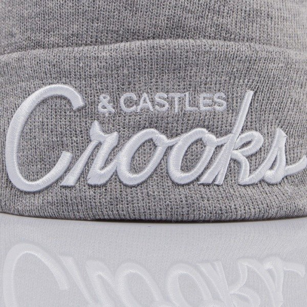 Crooks and Castle czapka zimowa Team Crooks speckle grey