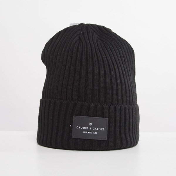 Crooks and Castles czapka zimowa Men's Knit Beanie Regal black