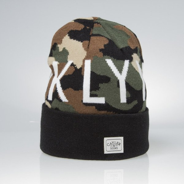 Czapka Cayler & Sons Brooklyn Soldier Old School Beanie woodland / black / white WL-CAY-AW15-BN-03-01