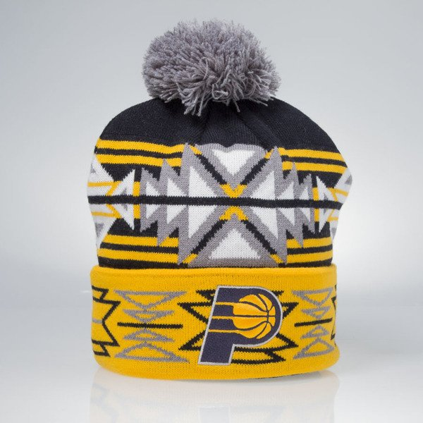 Czapka zimowa Mitchell & Ness winter beanie Indiana Pacers navy / yellow KN51Z GeoTech