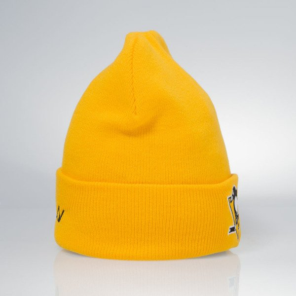 Czapka zimowa Mitchell & Ness winter beanie Pittsburgh Penguins yelloow EU175 Team Talk