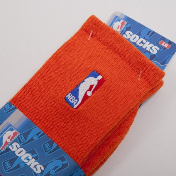 FBF skarpety NBA Logo orange A301